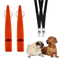 PHABULS Silent Dog Whistle to Stop Barking Adjustable Frequency Dog Whistles with Lanyards Dog Clicker for Training & Dog Bark Control