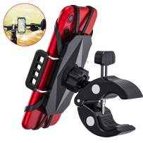 Andobil Bike& Motorcycle Phone Mount- Universal Bicycle Handlebar Cell Phone Holder 360° Rotation Mountain Cycling Stand Cradle Compatible iPhone SE 11 Pro Max XR 8 7 Plus, Samsung S10+ S20 Note 9 ATV