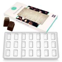 O'Creme Clear Polycarbonate Chocolate Mold Transparent Candy Mould Envelope 24 Cavities