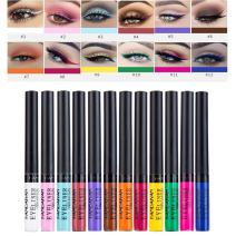 Matte Liquid Eyeliner, Spdoo 12 Colors Waterproof High Pigmented Colorful Eye Liner Pen Set