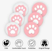 Ferkurn Switch Thumb Grip Caps for Nintendo Switch Joycon & Switch Lite, Switch Joystick Caps Analog Cat Paw Grips Button Caps Joy con Cover Controller Cute Accessories Pink Skin Thumbstick Grips