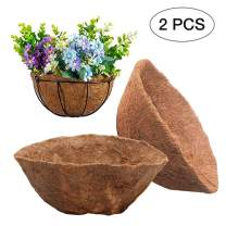 Round Coco Liner, 16inch Basket Shaped Fiber Liners Replacement Hanging Baskets Liners for Flower Basket Balcony Fleshy Plants Flowerpots Home Gardening Decoration