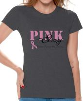 Awkward Styles Women's Pink Strong T-Shirt Breast Cancer Awareness Shirt