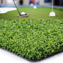 Golf Putting Green/Mat-Golf Training Mat Sprot Baseball Football Artificial Grass- Green Long Challenging Putter for Indoor/Outdoor