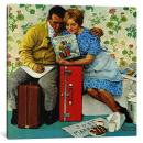 iCanvasART 1 Piece The Newlyweds Canvas Print by Norman Rockwell, 1.5 by 12 by 12-Inch