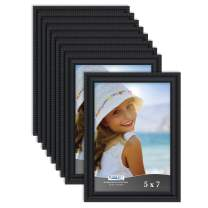 Icona Bay 5x7 Picture Frames (Black, 12 Pack), Beautifully Detailed Molding, Picture Frame Set, Wall Mount or Table Top, Inspirations Collection