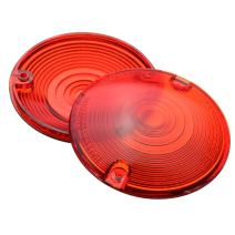 """ZYTC Red Harley Turn Signal Lens Lenses Covers 3 1/4"""" for Harley Touring Flat Electra Glide Road King Pack of 2"""