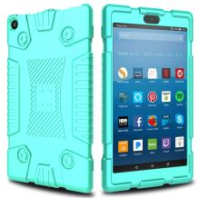 Kindle Fire 8 Case, Fire HD 8 Case, Elegant Choise Light Weight Shock Proof Soft Silicone Kids Friendly Full Body Protective Case Cover for All-New Amazon Kindle Fire 8 (2017 and 2018 Release)-Green