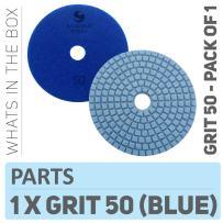 Stadea PPW102D Diamond Polishing Pads 4 Inch Grit 50 - For Concrete Marble Terrazzo Floor Granite Stone Counter Edge Wet Polishing