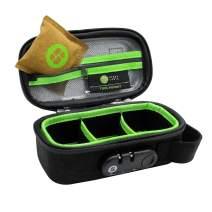 STASHLOGIX Silverton - Locking Stash Bag with Odor Control (Black, Small)
