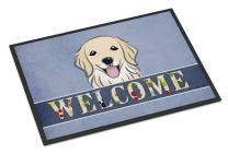 Caroline's Treasures BB1391MAT Golden Retriever Welcome Indoor or Outdoor Mat 18x27, 18H X 27W, Multicolor