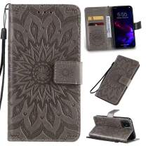 Cmeka 3D Sunflower Wallet Case for iPhone 11 Pro Max 2019 6.5 inch with Credit Card Slots Holder Magnetic Closure Slim Flip Leather Kickstand Function Protective Case Gray
