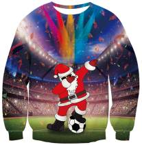 UNICOMIDEA Ugly Christmas Sweatshirts Novelty Crew Neck Pullover Long Sleeve X-mas Sweater for Men Women
