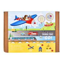 jackinthebox Things That Go Themed Craft Kit and Educational Toy for Boys and Girls   3 Activities-in-1 Kit   Great Gift for Boys Aged 7-10 Years Old   Learning Stem Toys (Things That Go 3-in-1)