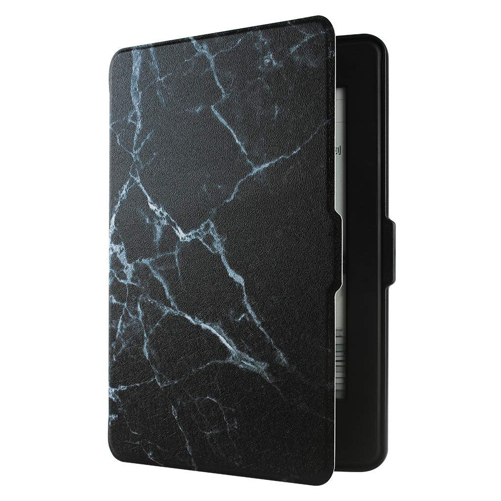 GOLINK Case for All-New Kindle Paperwhite(Fits All Versions: 2012, 2013, 2014 and 2015) - Slim and Light Weight Shell Cover with Auto Wake/Sleep for Amazon All-New Kindle Paperwhite-Black Marble