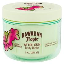 Hawaiian Tropic After Sun Lotion Moisturizer and Hydrating Body Butter with Coconut Oil, 8 ounce