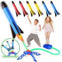 Lydaz Jump Rocket Launchers for Kids, Outdoor Toys with 6 Colorful Foam Rockets, Fun Outside Games Activities, Birthday Gifts Party Favor for Boy Girl Toddler 3 4 5 6 7 Year Old