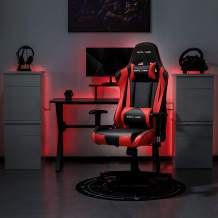 Gaming Chair Racing Office Chair Ergonomic Pc Computer Reclining Chair Headrest and Lumbar Support for Adults Video Game Desk Chair,Red