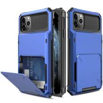 Yunerz Compatible iPhone 11 Pro Case, iPhone 11 Pro Wallet Dual Layer Protective Case with Card Holder Slot for iPhone 11 Pro 2019 5.8inch(blue)