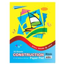 """BAZIC 32 Sheets 9"""" X 12"""" Construction Paper Pad, Assorted Colors Great for Creative Draw Cut Glue Fold, Gift for Toddler Kids Classrooms School Home DIY Projects (Case of 48)"""