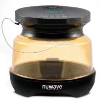 NUWAVE PRIMO Grill Oven with Integrated Digital Temp Probe for PERFECT Results, Convection Top & Grill Bottom for Surround Cooking; Cook Frozen or Fresh, Broil, Roast, Grill, Bake, Dehydrate & Air Fry