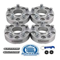 """Supreme Suspensions - 4pc 1.5"""" Hub Centric Wheel Spacers for 2002-2007 Jeep Liberty KJ 2WD 4WD 5x4.5"""" (5x114.3mm) BP with 1/2""""x20 Studs 71.5mm Center Bore w/Lip [Silver]"""