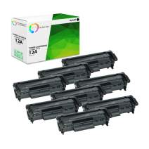 TCT Premium Compatible Toner Cartridge Replacement for HP 12A Q2612A Black Works with HP Laserjet 1010 1012 1015 1018 1020 1022 3015 3020 3030 3050 3055 Printers (2,000 Pages) - 8 Pack