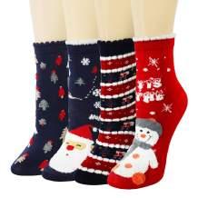CHRLEISURE Fuzzy Slipper Socks for Women - Cozy Winter Fluffy Socks, Cute Animals Warm Socks
