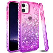 Ruky Case for iPhone 11 Case, iPhone 11 Glitter Case Bling Colorful Quicksand Series Soft TPU Flowing Liquid Floating Sparkle Diamond Girls Women Phone Case for iPhone 11 6.1 inches 2019 (Pink Purple)