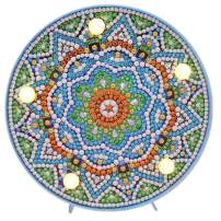 "Diamond Painting Mandala with LED Night Light DIY Handmade Artwork 5D Full Drill Crystal Drawing Kit Bedside Lamp Arts Craft for Home Decoration or Gifts-5.91 X 5.91"" (Mandala-D)"