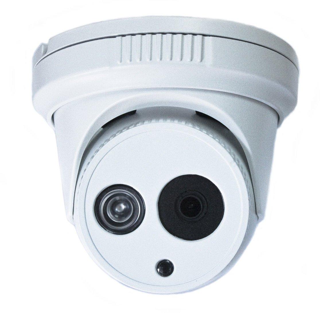 Gawker HD TVI Vandal Proof Turret Camera, 1080P EXIR, IP66 Weather Proof, 3.6mm Lens, IR Smart no Ghost Image, DNR OSD, White Color Metal case, DC12V.