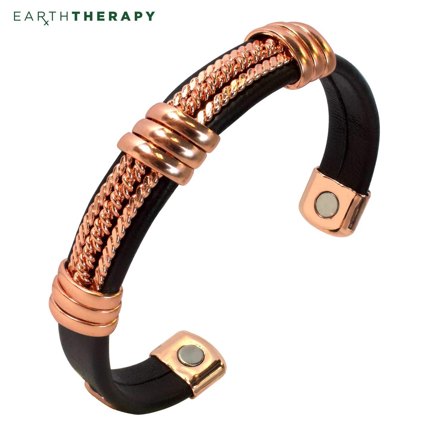 Real Copper and Leatherette Motorcycle Bracelet for Men and Women Cool Magnetic Jewelry Accessories for Harley Davidson Fans …