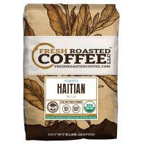 Fresh Roasted Coffee LLC, Organic Haitian Blue Coffee, Medium Roast, Direct Trade, USDA Organic, Whole Bean, 5 Pound Bag