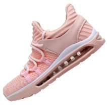 QAUPPE Women's Memory Foam Air Running Shoes Comfortable Cross Trainer Gym Sports Flyknit Tennis Fashion Sneakers US5.5-10 B(M)