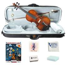 Bunnel Pupil Violin Outfit 1/16 Size By Kennedy Violins - Carrying Case and Accessories Included - Solid Maple Wood and Ebony Fittings