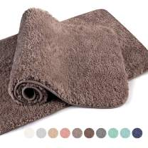 "VANZAVANZU Bathroom Rugs 20""x32"" (2 Pack) Ultra Soft Absorbent Non Slip Fluffy Thick Microfiber Cozy Bath Mat for Tub Shower Bathroom Floors Accessories (Taupe)"