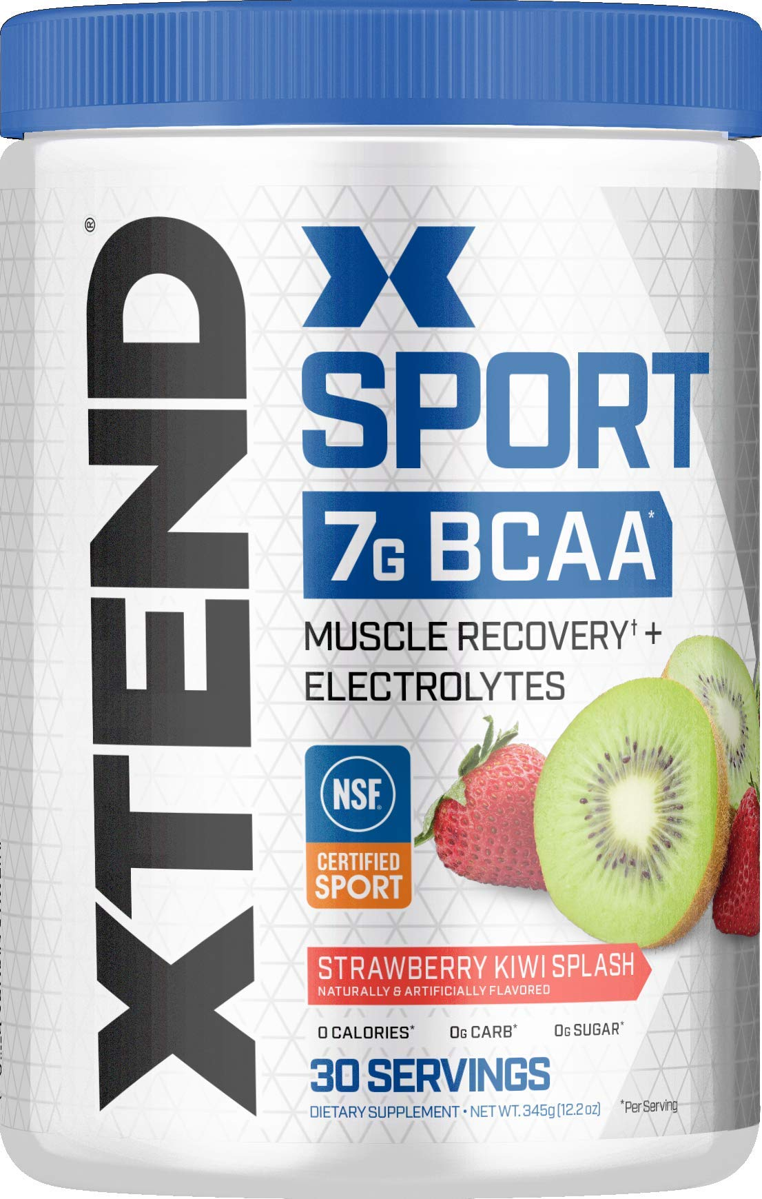 XTEND Sport BCAA Powder Strawberry Kiwi Splash | Electrolyte Powder for Recovery & Hydration with Amino Acids | 30 Servings | Packaging May Vary