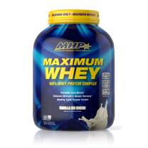 MHP Maximum Whey Protein, 25g Fast Acting Delicious Tasting Protein, Enhances Strength & Speeds Recovery, Vanilla Ice Cream, 50 Servings
