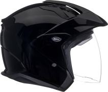 Bell Mag-9 Open Face Motorcycle Helmet (Solid Gloss Black, X-Small)