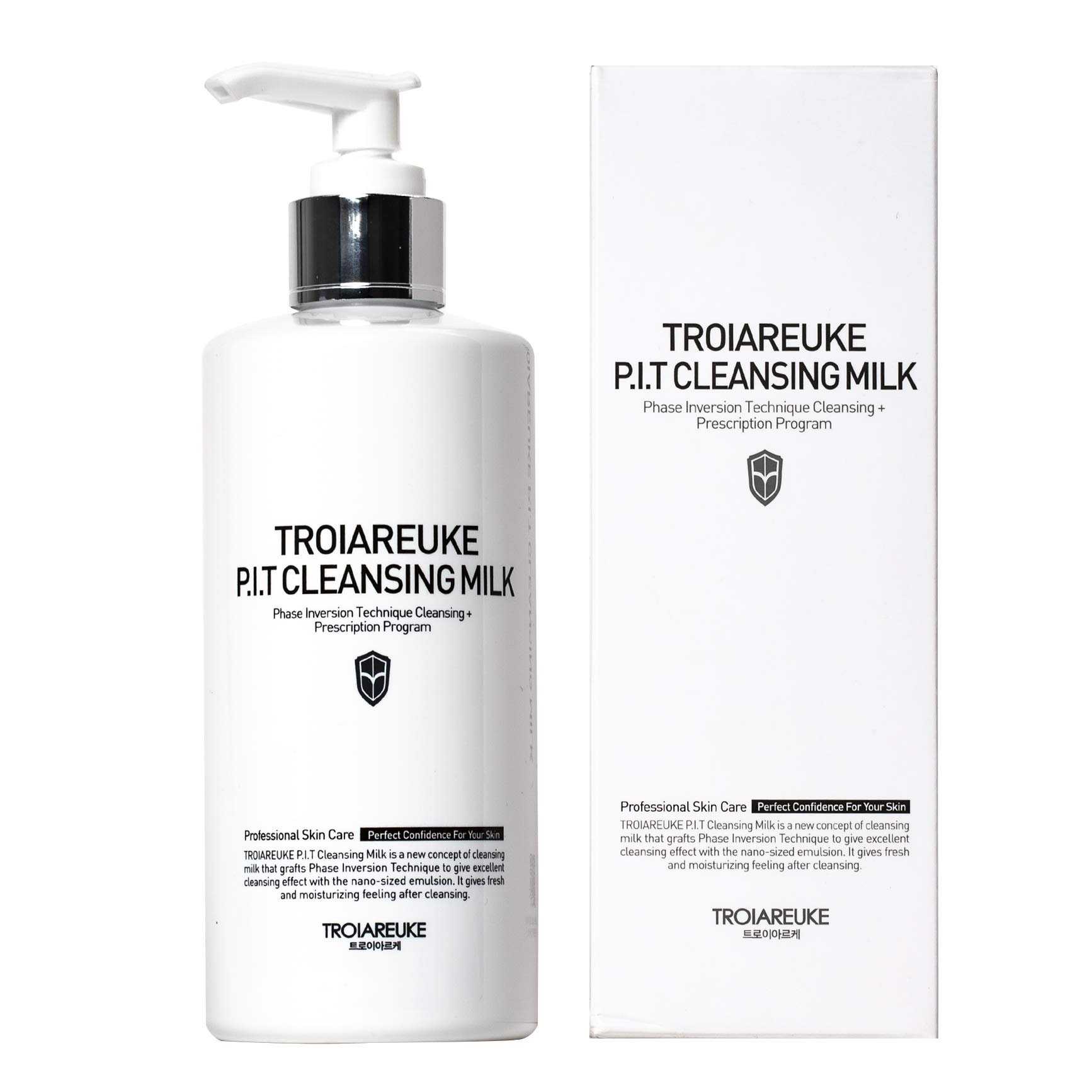 TROIAREUKE PIT Cleansing Milk 10.14 fl. oz., Hypoallergenic Cleansing Mask used by Aestheticians For Skin Care Treatment   Deep Cleansing Cream Packed With Antioxidants and Vitamins   Mineral Oil, Apricot Kernel Oil, Pine Leaf Extract, Camellia Seed Oil