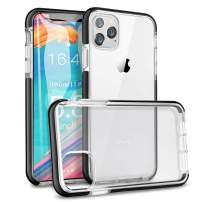 ROYBENS iPhone 11 Pro Clear Case, Military-Grade Protection Silicone Protective Cover Slim Fit, Full Body Shockproof Soft TPU Rubber Bumper Cute Transparent Case for iPhone 11 Pro 5.8 Inch 2019, Black
