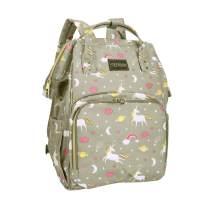 Unicorn Diaper Bag Backpack for Women Large Grey