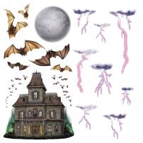 Haunted House & Night Sky Props Party Accessory (1 count) (16/Pkg)