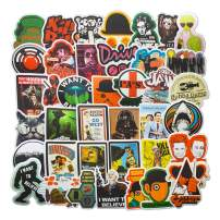 Classic Movies Laptop Stickers Vinyl for Water Bottle Snowboard Car Suitcase Helmet Bicycle Guitar Door Travel Luggage Phone Case DIY Decoration Fashionable Waterproof Decal Movie (50pcs)