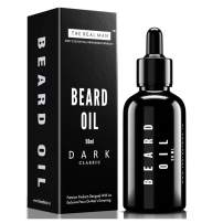 THE REAL MAN Beard Oil & Conditioner Dark Classic(50ml). Hair Growth Oil with Jojoba oil | Tee tree oil | Olive oil | Almond oil | Sandal wood Oil | Cedar wood oil | Sunflower oil | Coconut oil | Vita