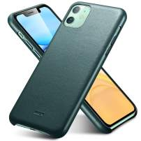 """ESR Premium Real Leather Case Compatible with iPhone 11 - Slim Full Leather Phone Case [Supports Wireless Charging] [Scratch-Resistant] Protective Case for iPhone 11 6.1"""" 2019 - Green"""