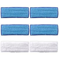 KEEPOW 6 Pack Washable Mopping Pads for iRobot Braava Jet 240 241 Included (4 pcs Wet Pads, 2 pcs Dry Pads)
