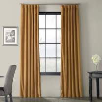 HPD Half Price Drapes VPCH-140805-84 Signature Blackout Velvet Curtain (1 Panel), 50 X 84, Amber Gold
