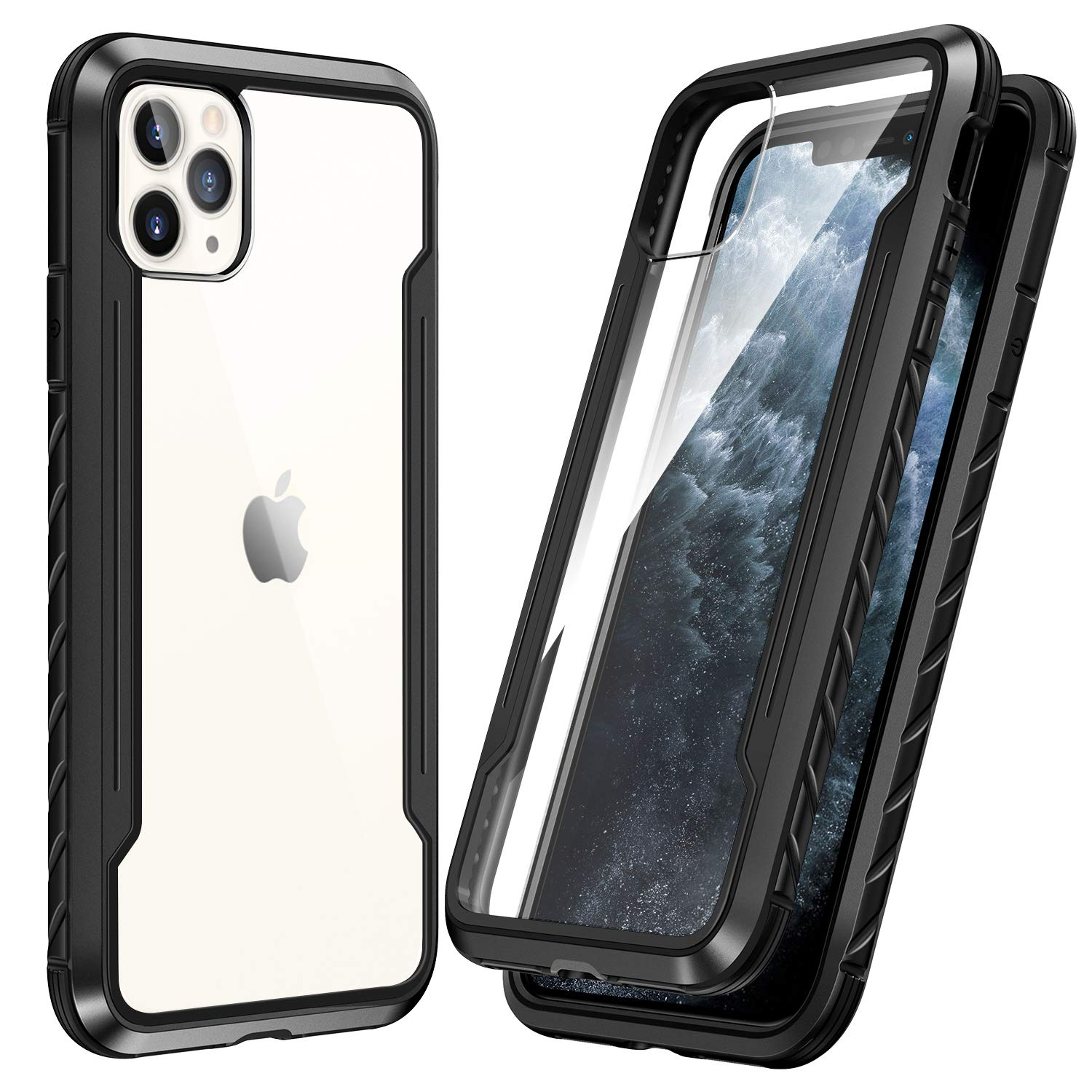 SmartDevil Shatterproof Series Designed for iPhone 11 Pro Cases, Passed Military Grade Drop Test, Anodized Aluminum, TPU, and Hard PC Protective Case for iPhone 11 Pro 5.8 Inch (Black)