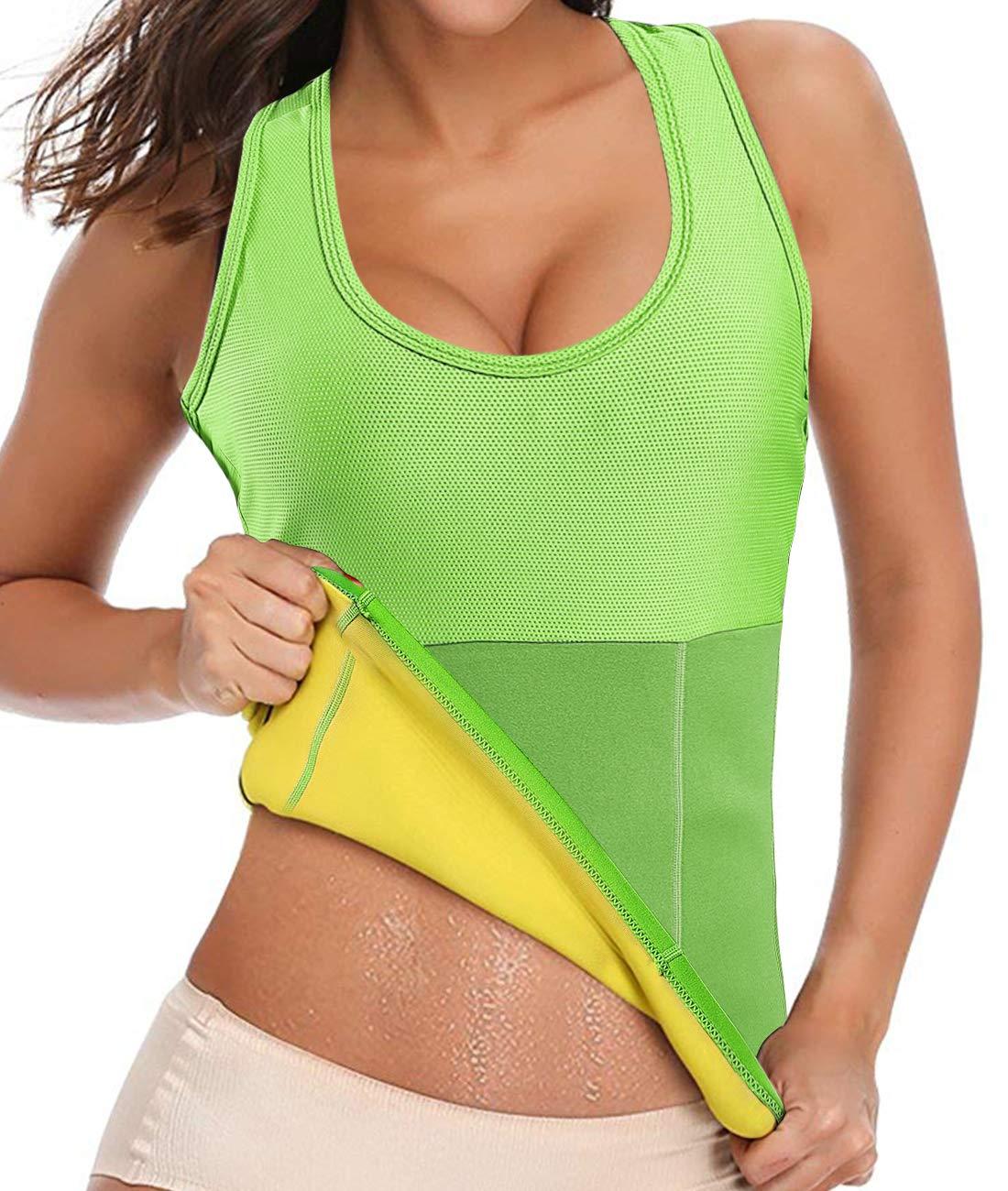 Women Neoprene Hot Sweat Workout Tank Top Sauna Vest Shapewear Body Shaper with Pocket
